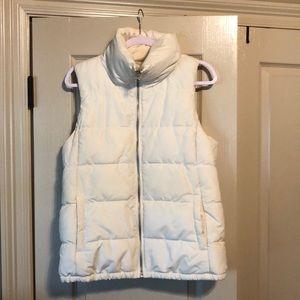 OLD NAVY | Women's White Fleece Lined Puffer Vest